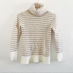 Banana Republic Cream Italian Wool Stripe Sweater!